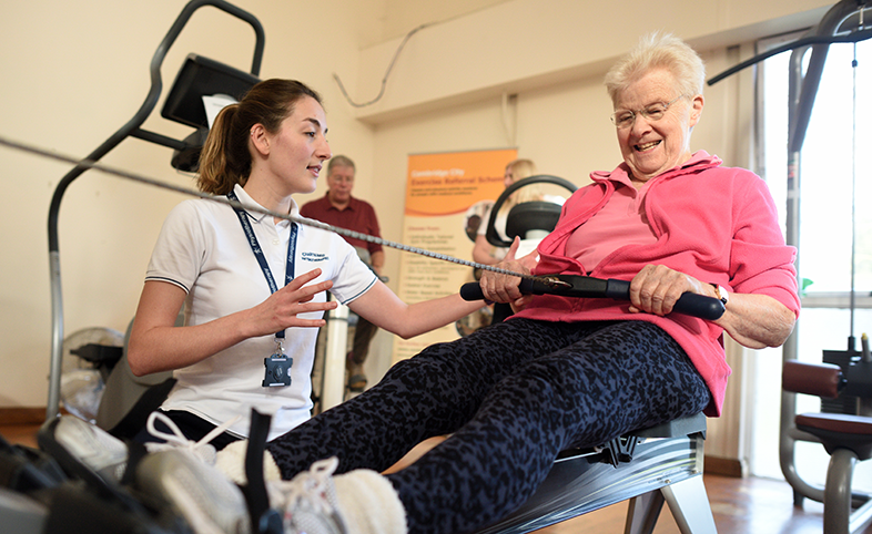 ESCAPE-pain arthritis exercise programme Cambridge patient and physiotherapist