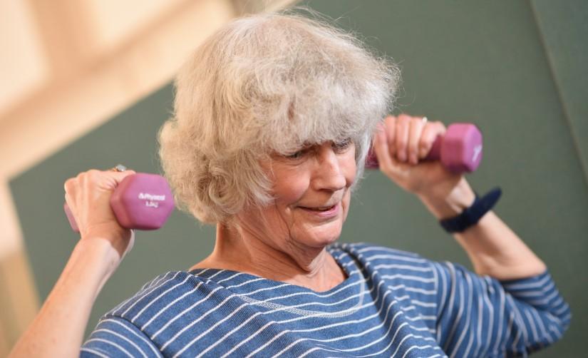 ESCAPE-pain participant exercising