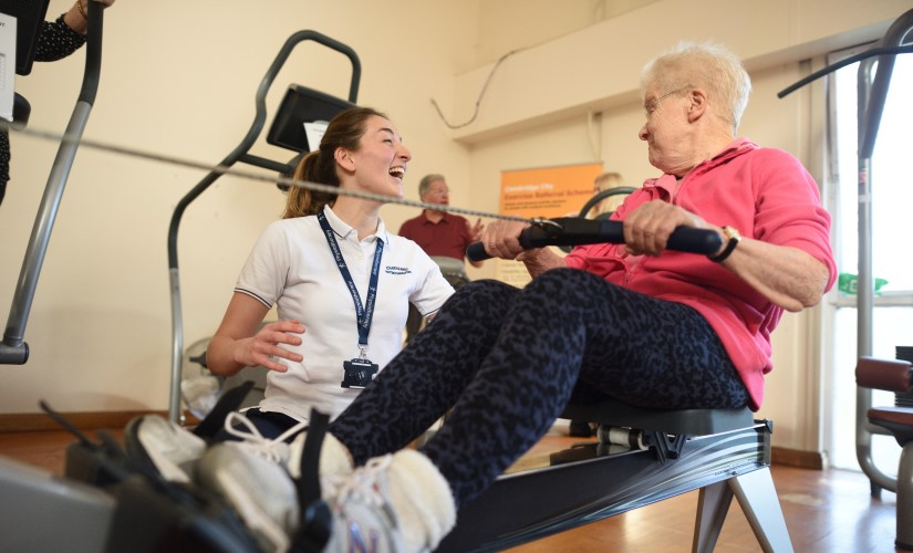 ESCAPE-pain participant exercising with physiotherapist