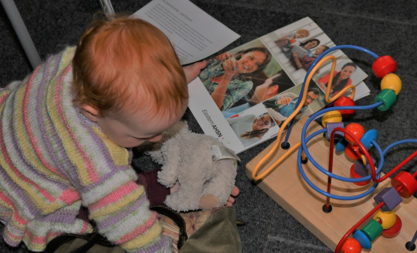 Child at event for patient participatory appraisal healthy new town programme Northstowe WEB