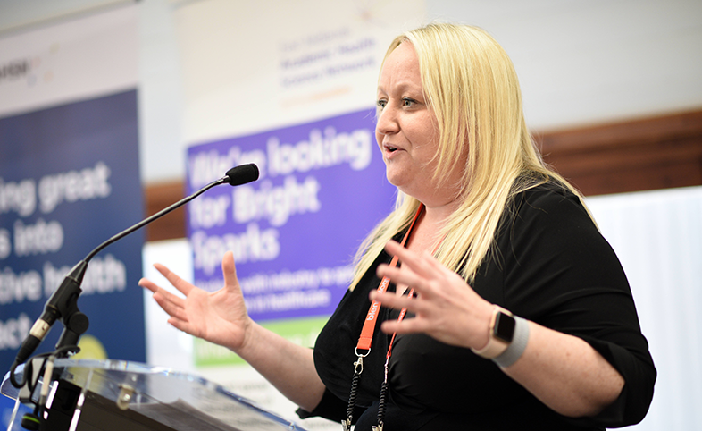 Helen Oliver speaks at the estates and facilities innovation exchange