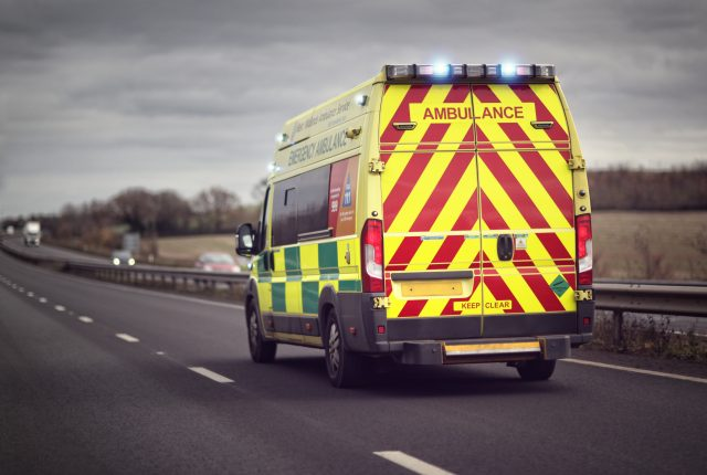 Ambulance paramedic stroke emergency