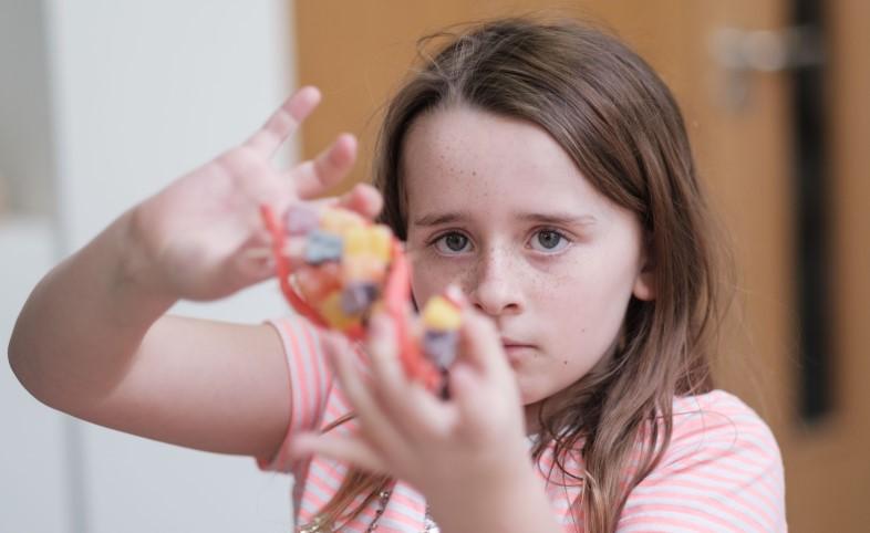 Girl with a rare disease